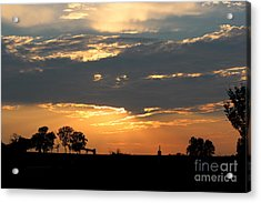 Acrylic Print featuring the photograph Texas Sized Sunset by Kathy  White
