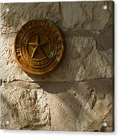 Texas State Seal Acrylic Print by Michael Flood