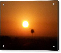 Texas Sunrise Acrylic Print by Adam Cornelison
