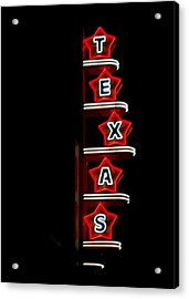Texas Theater Acrylic Print by Kitty Geno
