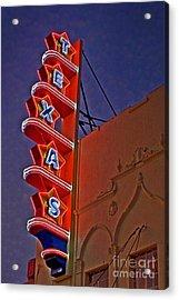 Texas Theater Restored Acrylic Print by Gib Martinez