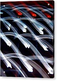 Texting Acrylic Print by Charles Carlos Odom