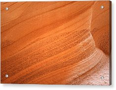 Texture And Light - Antelope Canyon Acrylic Print by Christine Till