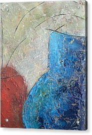 Textured Canvas Urns Acrylic Print by Patricia Cleasby