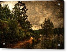 Textured Lake Acrylic Print