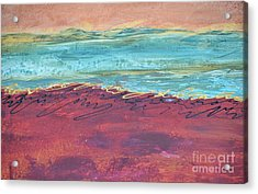 Textured Landscape 2 Acrylic Print by Barbara Tibbets