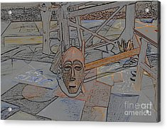 Acrylic Print featuring the photograph Textured Mask by Tamera James