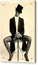 Textured Tuxedo Acrylic Print by Stuart Brown