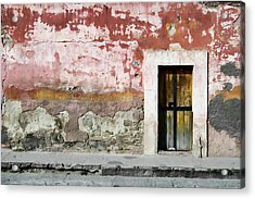 Textured Wall In Mexico Acrylic Print