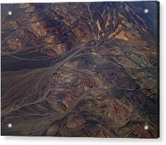 Textures Of Earth Acrylic Print by Naman Imagery