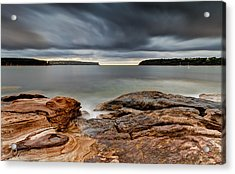 Textures Of Land And Sky Acrylic Print by Mark Lucey