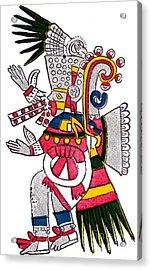 Tezcatlipoca, Aztec God Of Night, Codex Acrylic Print by Photo Researchers