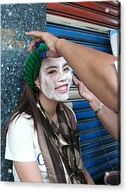 Thai Smile Acrylic Print by Gregory Smith