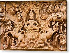 Thai Style Molding Art In The Temple Acrylic Print by Songsak Wilairit
