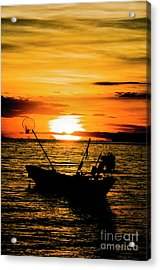 Thai Sunset Acrylic Print by Inhar Mutiozabal