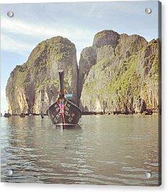 #thailand #phuket #mayabeach #mayabay Acrylic Print by Mohamed Shafy