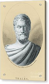 Thales, Ancient Greek Philosopher Acrylic Print by Photo Researchers, Inc.