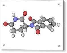Thalidomide Drug Molecule Acrylic Print by Laguna Design