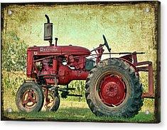 Thank A Farmer Acrylic Print by Bonnie Barry