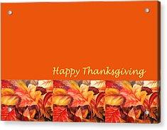 Thanksgiving Card Acrylic Print by Irina Sztukowski