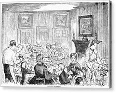 Thanskgiving Dinner, 1857 Acrylic Print by Granger