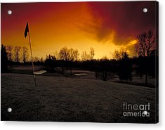 The 19th Hole Acrylic Print by Guy Harnett