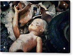 The Abandoned Doll Acrylic Print by Gun Legler