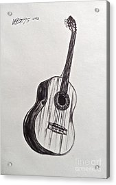 The Acoustic Man Acrylic Print by Wade Hampton