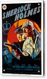 The Adventures Of Sherlock Holmes Acrylic Print by Everett