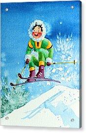 The Aerial Skier - 9 Acrylic Print by Hanne Lore Koehler