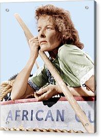The African Queen, Katharine Hepburn Acrylic Print by Everett