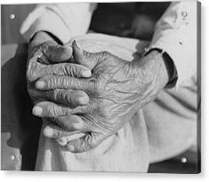 The Aged Hands Of Mr. Henry Brooks Acrylic Print by Everett
