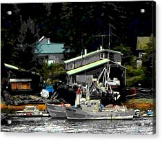 The Alaskan Fisherman's Home Acrylic Print by Mindy Newman