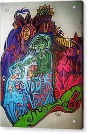 The Alien Post Man Acrylic Print by Ragdoll Washburn