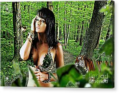 The Amazon Acrylic Print by The DigArtisT