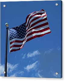 The American Flag Acrylic Print by Gregory Scott