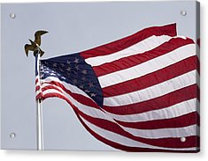 The American Flag Acrylic Print by Tim Laman
