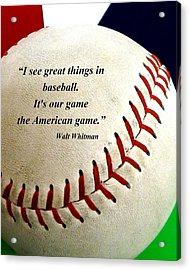 The American Game Acrylic Print by Christopher Kerby