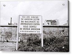 Berlin Wall American Sector Acrylic Print