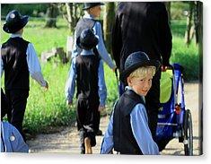 The Amish Boy Acrylic Print by Dennis Pintoski