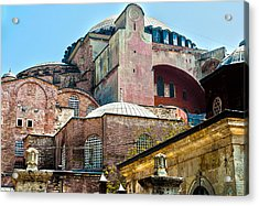 Acrylic Print featuring the digital art The Ancient Hagia Sophia by MaryJane Armstrong