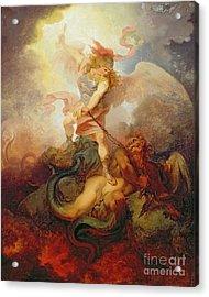 The Angel Binding Satan Acrylic Print