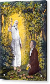 The Angel Moroni Delivering The Plates Acrylic Print by Everett