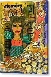 The Angel Of Fond Memories Acrylic Print by Angela L Walker
