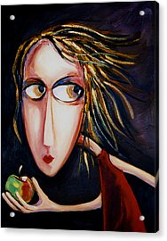 Acrylic Print featuring the painting The Apple by Leanne Wilkes