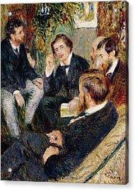 The Artist's Studio Rue Saint Georges Acrylic Print by Pierre Auguste Renoir