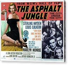 The Asphalt Jungle, Left Marilyn Monroe Acrylic Print by Everett