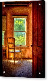 Acrylic Print featuring the photograph The Attic View by Williams-Cairns Photography LLC