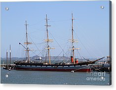 The Balclutha . A 1886 Square Rigged Cargo Ship At The Hyde Street Pier In Sf California . 7d14069 Acrylic Print by Wingsdomain Art and Photography