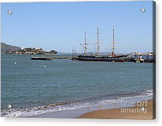The Balclutha . A 1886 Square Rigged Cargo Ship At The Hyde Street Pier Overlooking Alcatraz.7d14068 Acrylic Print by Wingsdomain Art and Photography